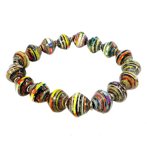 Earth-tone Recycled Paper Bracelet (P206E)