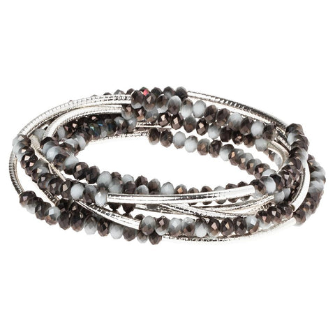 Eclipse/Silver Crystal Wrap (BR042)
