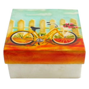 Large Bicycle Trinket Box