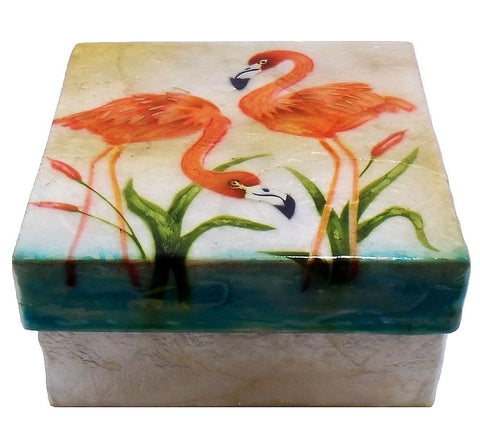 Large Flamingo Trinket Box (1565)