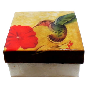 Large Hummingbird Trinket Box