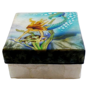 Large Mermaid Trinket Box