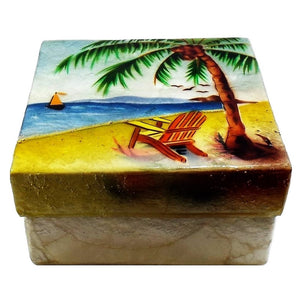 Large Beach Trinket Box (1578)
