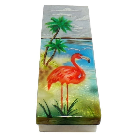 Long Flamingo Trinket Box (1277)