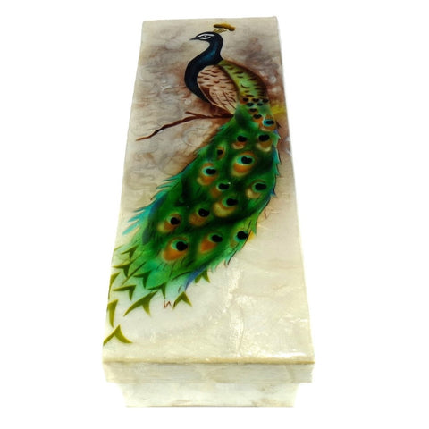 Long Peacock Trinket Box (1289)