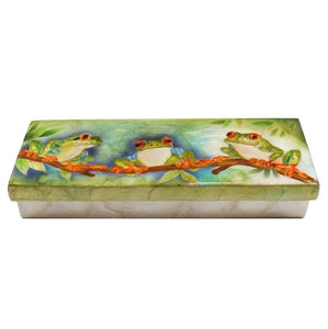 Long Frog Trio Trinket Box (1273)