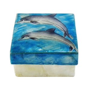 Small Dolphin Trinket Box