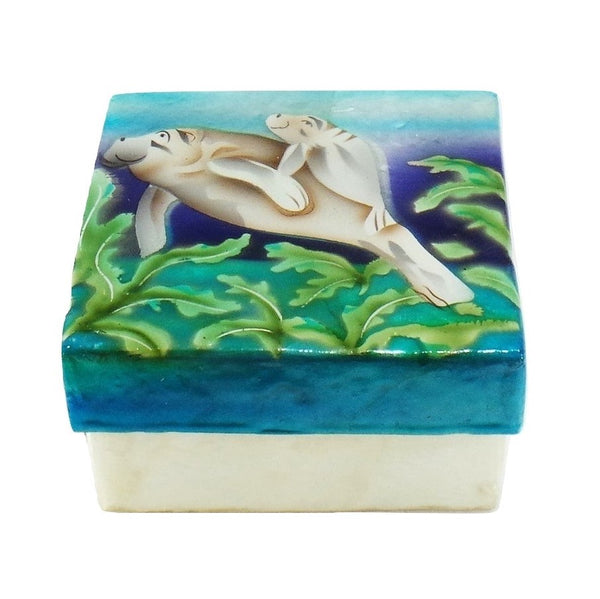 Small Manatee Trinket Box (1781)