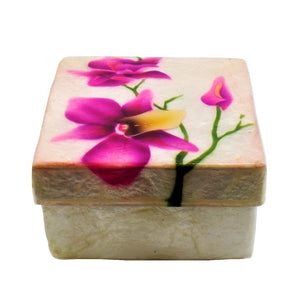 Small Purple Orchid Trinket Box (1770)