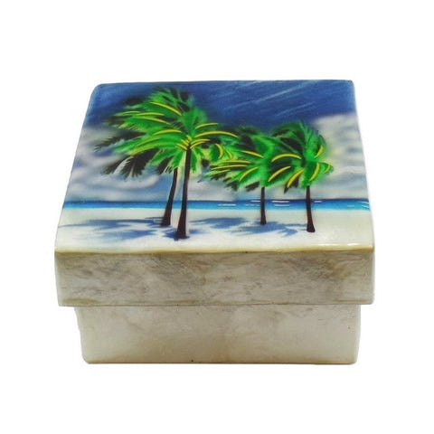 Small Palm Tree Trinket Box (1587)