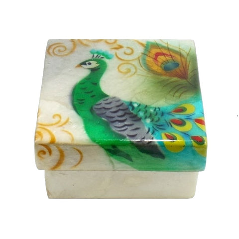 Small Peacock Trinket Box (1210)