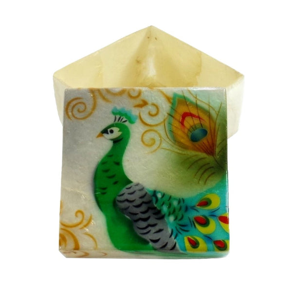 Peacock Small Trinket Box (1210)
