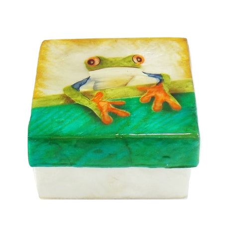 Small Tree Frog Trinket Box (1214B)