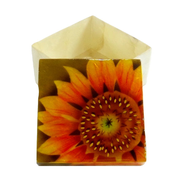 Small Sunflower Trinket Box (1704)