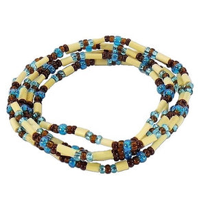 Turquoise Brown Combo Zulugrass Strand (LCZG26)