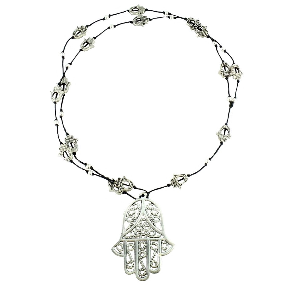 Large Hamsa Hand Necklace