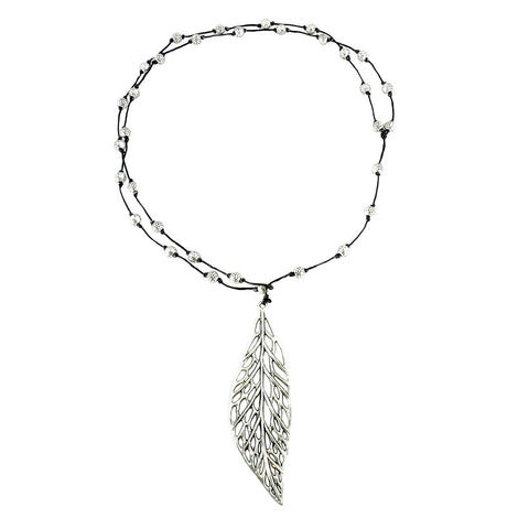 Webbed Leaf Necklace