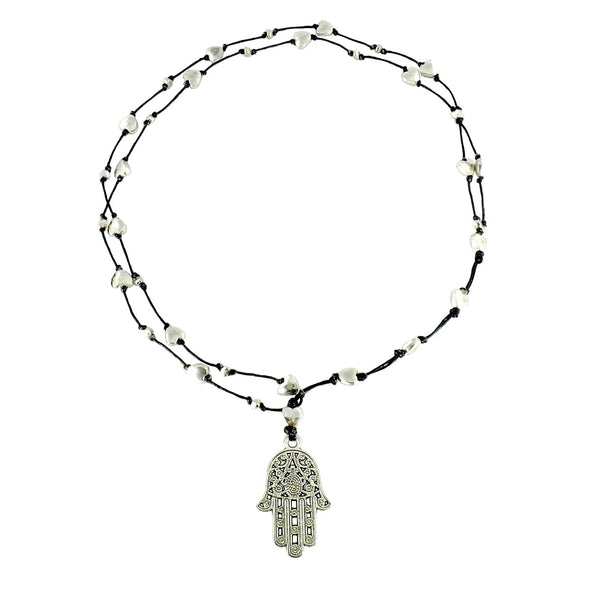Small Hamsa Hand Necklace