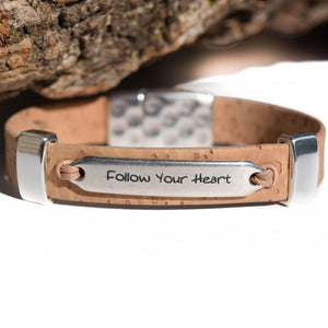 """Follow Your Heart"" Engraved Bracelet (B68)"