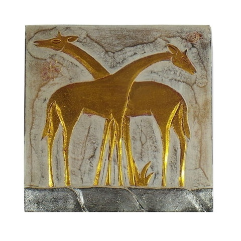 Wall Plaque-2 Giraffe