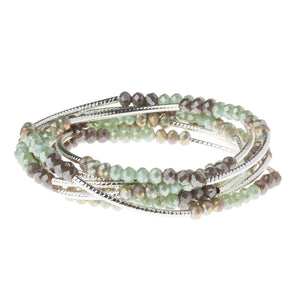 Iced Mint Combo/Silver Crystal Wrap (BR035)