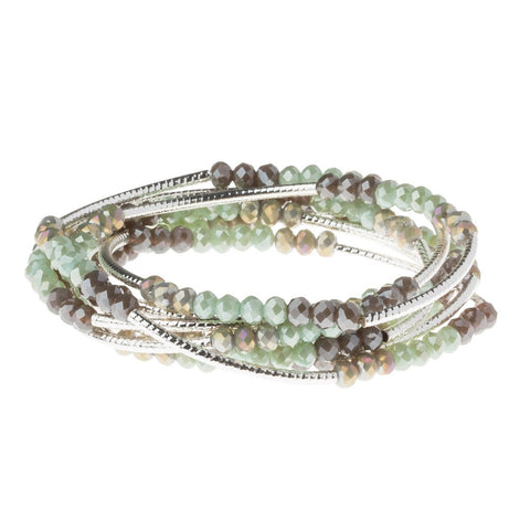 Iced Mint Combo/Silver Crystal Wrap