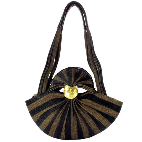Black and Brown Palm Purse (DZ-10 COCOA)