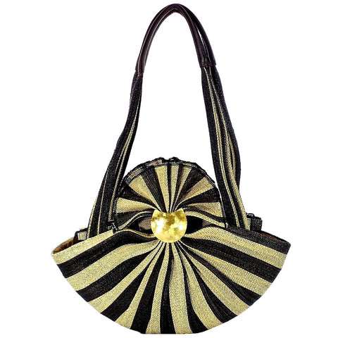 Black and Tan Palm Purse (DZ-10 TAN)