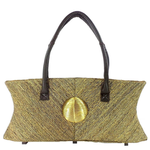 Small Hand Loom Vetiver Purse (A6 BLK)