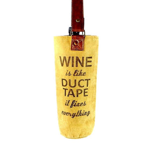 Duct Tape Wine Bag