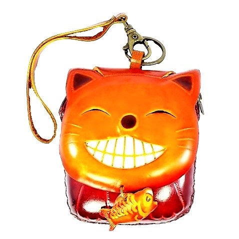Cat-Smiling Novelty Wristlet