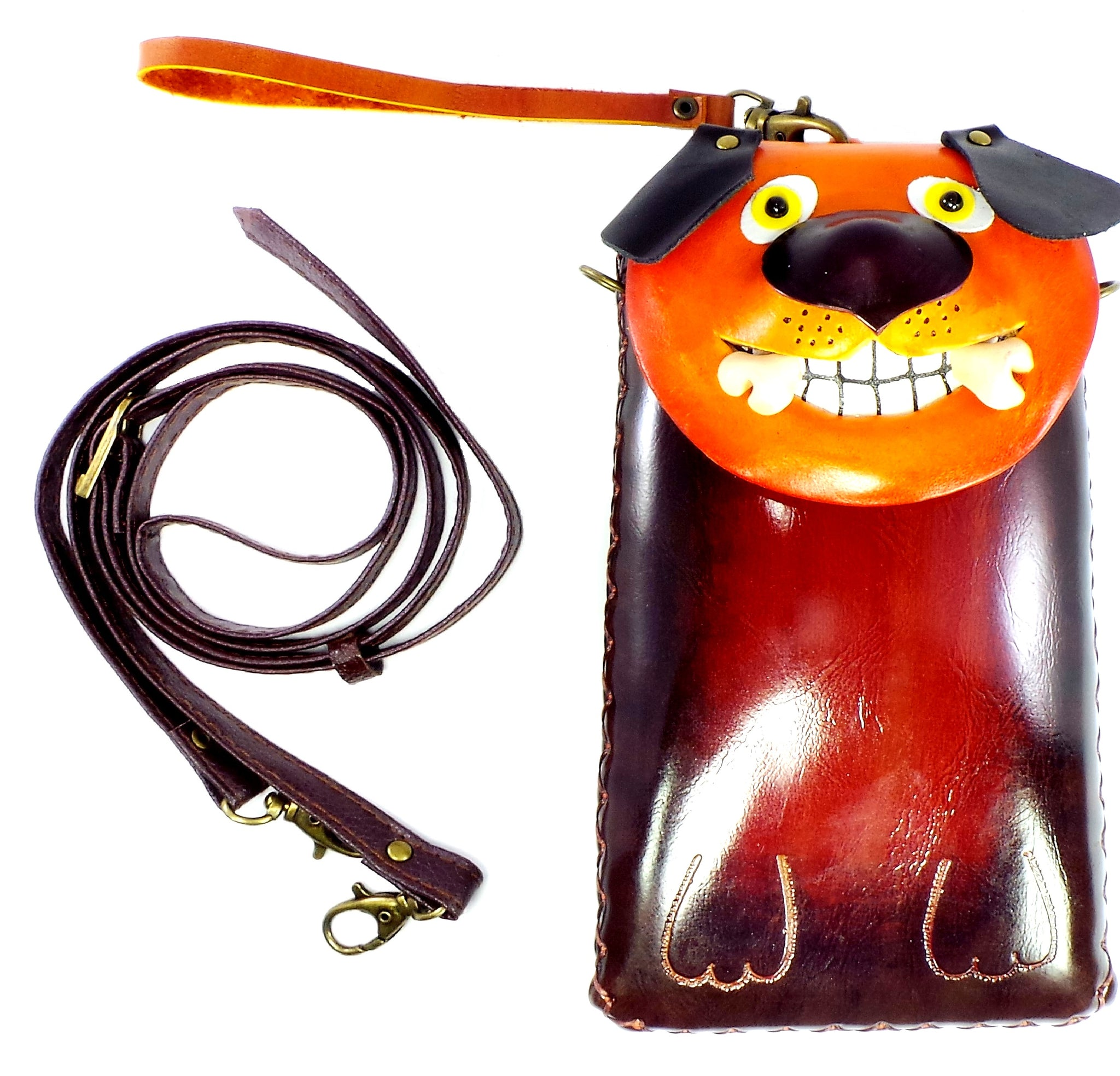Dog with Bone Cross-body Wallet (IH003)