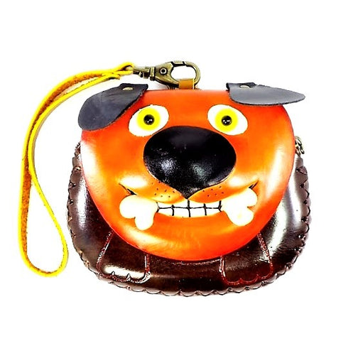 Dog with Bone Novelty Wristlet (E375)