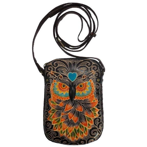 Blue Heart Owl Cross-body Purse (AY25)