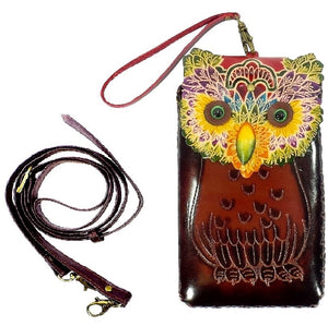 Colorful Owl Cross-body Wallet (IH018)