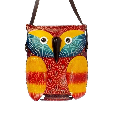 Colorful Owl Handbag