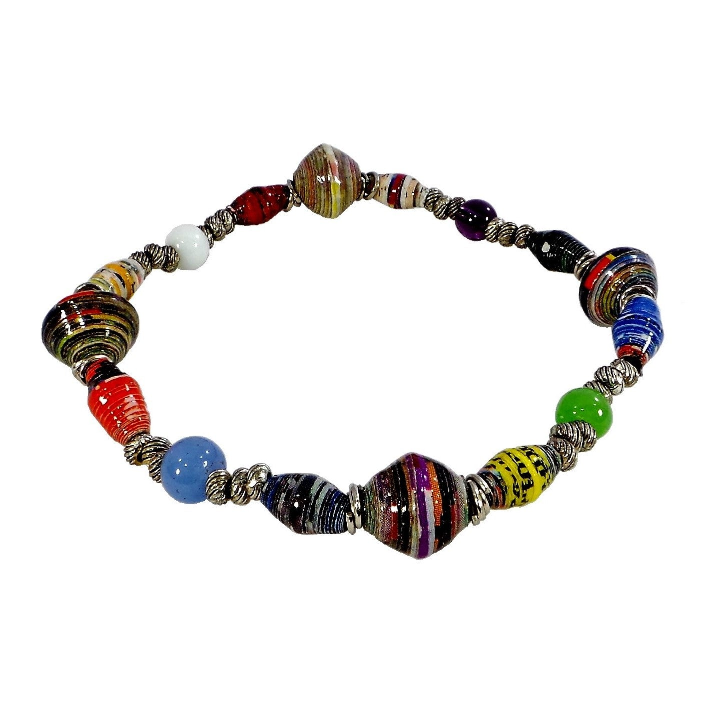 New Horizon Stretch Recycled Paper Bracelet (PSSB13)