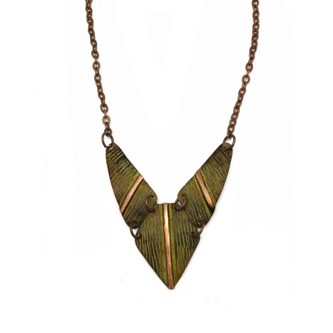 Copper Patina Necklace (NP281)