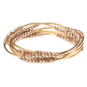 Oyster/Gold Crystal Wrap (BR031)