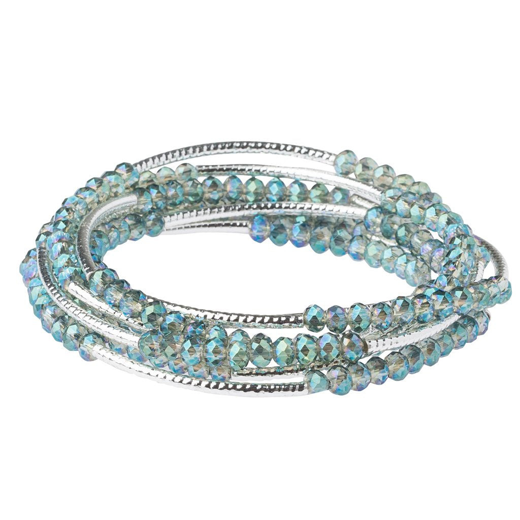 Seabreeze/Silver Crystal Wrap (BR037)