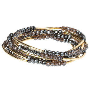 Shadow/Gold Crystal Wrap (BR039)