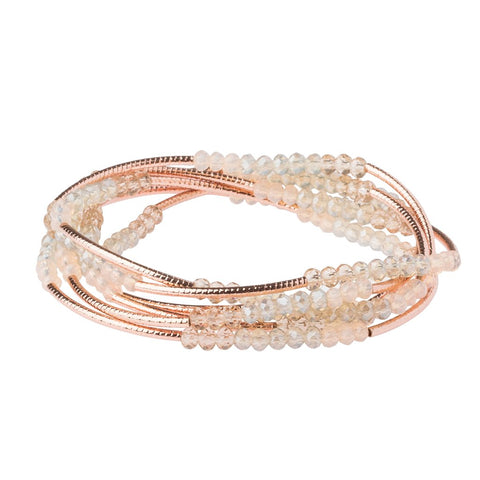 Shell/Rose Gold Crystal Wrap