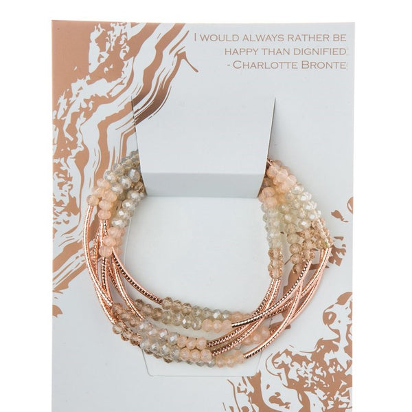 Shell/Rose Gold Crystal Wrap (BR036)
