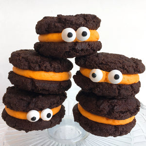 Peek-a-Boo Cookie Monster Sandwiches