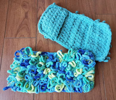 Couvre Vadrouille 'Swiffer Sweeper' & Scrubby - Bleu & Vert