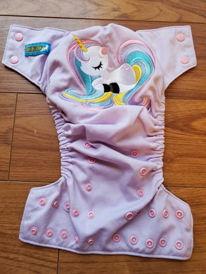 Couche Lavable ''One Size'' d'Occasion - ''My Little Poney'' Licorne