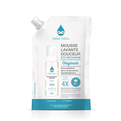 Mousse Lavante Douceur - Cheveux & Corps - Éco-Recharge - Original