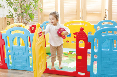 The Tale Of Two Products – Dwinguler Castle Playpen & Its Extension Kit!