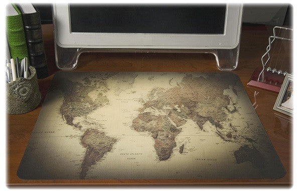 World Map Desk Mat