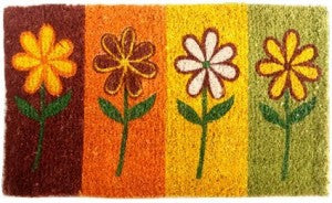 Painted Flowers Coco Mat